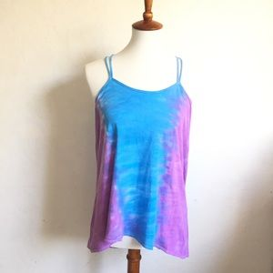 Chaser Knotted Hi Lo Tie Dye Muscle Cami Size M